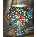 Mosaic Work Glass Lamp