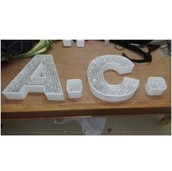 crystal letters sign board