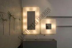 Illuminated LED Square Mirror