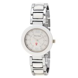 Swiss Trend Stylish Womens Wrist Watch With White Dial