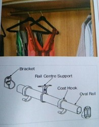 Wardrobe Rail Fitting
