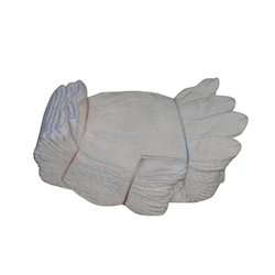 White Knitted Hand Gloves