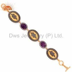 925 Silver Amethyst Gemstone Bracelet Jewelry