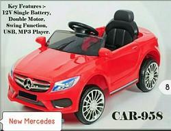 Red 12volts Mercedes Battery Operated Car