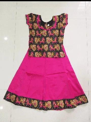 f7aad67b14 Bright Colors Casual Wear Kalamkari Pattu Pavadai, Rs 500 /piece ...