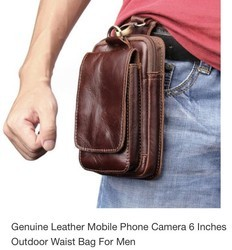 Mobile Phone Leather Waist Bag