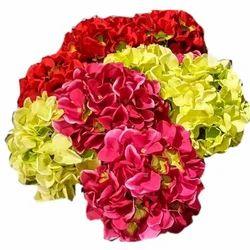 Silk Decoration D1880 Artificial Hydrangea Flower Bunch, Packaging Type: Carton, Packaging Size: 120 Pieces