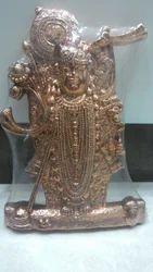 Pure Copper Srinathji Idol Murti