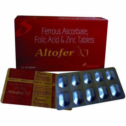Altofer Xt Elemental Iron Folic Acid And Zinc Tablets 3x10 Rs 89
