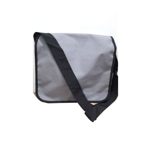 Polyester Black And Grey Single Strap College Bag e4b5fbe62706
