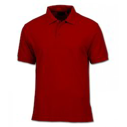 Cotton Mens Red T-Shirt, Size: Medium & Large