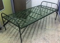 Folding Cot with Metal Sheet Top