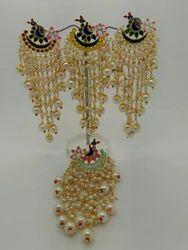 Peacock Designer Long Earrings