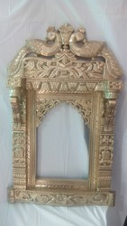 Handwork Plain Antique Brass Jharokha For Home Decorations, Size/Dimension: 36 Inch * 24