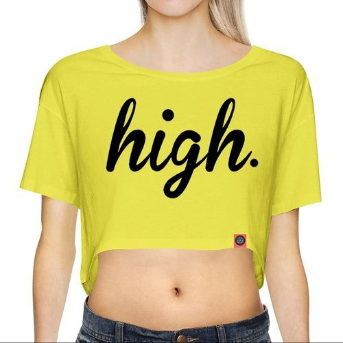 Girls Yellow Crop Tops, Rs 115 Piece, Irongrit Private -9862