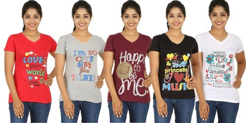 881eaafe Womens Printed T-Shirts at Rs 80 /piece(s) | Ladies Printed T Shirt ...