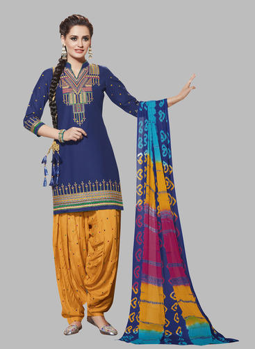 8c252a3400 Cotton Regular Wear Patiala Dress Material, Rs 799 /set | ID ...