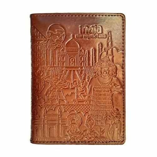 Brown Color Passport Holder
