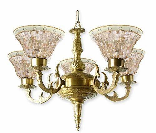 5 Light Brass Chandelier at Rs 11000 /piece(s) | Greenlands ...