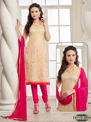 Chanderi Embroidery Dress Material
