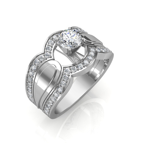 04dd51afd Free Size Wedding Designer Diamond Engagement Rings, Rs 60297 /piece ...