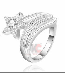 1ct Off White Yellow Moissanite Sterling Silver Ring