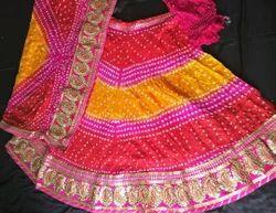Multicolor Festive Wear Bandhani Lehenga