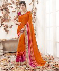 Orange & Pink Saree