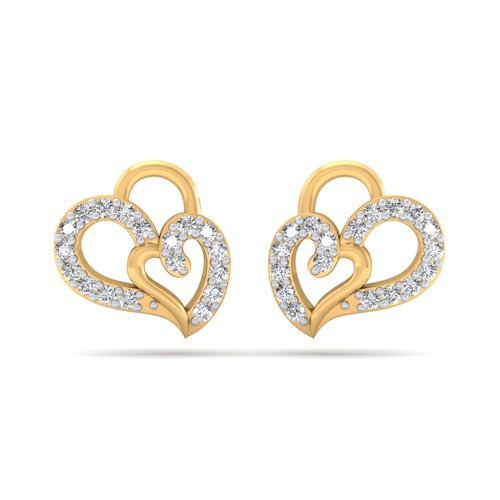 1faf519ab Designer Heart Shape Real Diamond Earrings, Size: Free, Rs 17574 ...