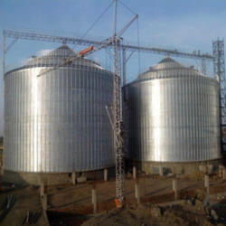 Galvanized Industrial Silos