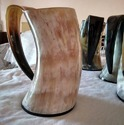 Ale Drinking Horn Tankard With Resin Base