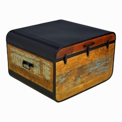Industrial Reclaimed Wood Storage Box