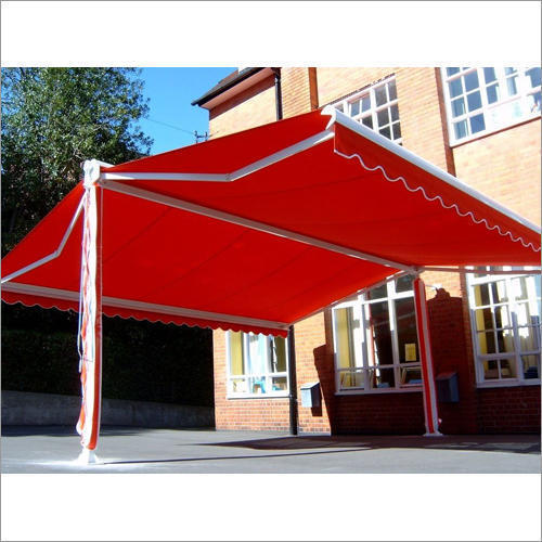 Red Commercial Retractable Awnings Rs 120 Square Feet Vasisht