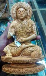 Wooden Kiran Buddha Statue