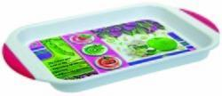 Zadoli Plastic Printed Serving Tray, Thickness: 2-4 mm , Shape: Rectangle