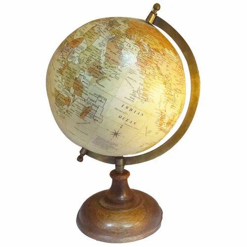 Decorative Handmade Table Top Globe Indian Vintage