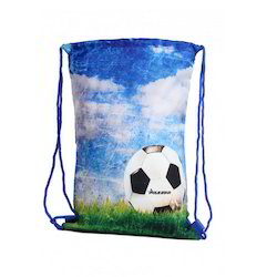 Football Printed Drawstring Bags