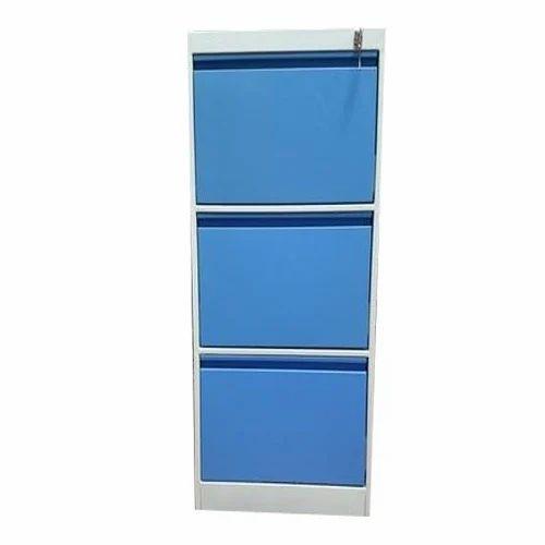 Vertical Filling Cabinet Inbuilt Handle 3 Drawer