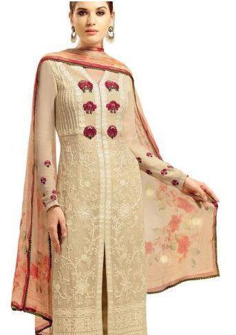 1aa6a6df49 Amazing Cream Embroidered Salwar Kameez at Rs 2560 /no   Surat   ID ...