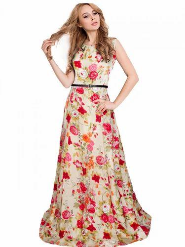 97a75c17a4 Pink Silk Stylish Designer Long Gown, Rs 699 /piece, Tfunny Fashion ...