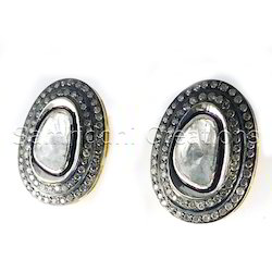 Diamond Polki Flat Rose Cut Earring
