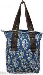 Indian Cotton Kantha Handbag Shoulder Bag - Womens Bag Floral