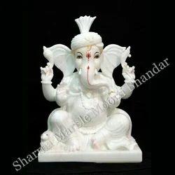 Lord Ganesha Marble Moorti