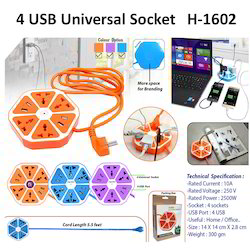 4 USB Universal Socket H-1602
