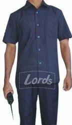 Blue Safari Uniform With Pleated Trouser