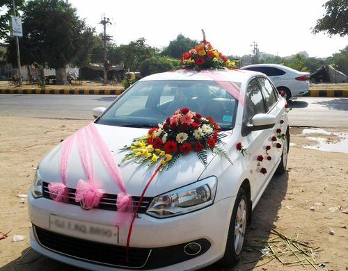 Wedding Car Decoration Services Wedding Car Front Side Decoration
