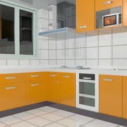L Shape Modular Kitchen Designing Services