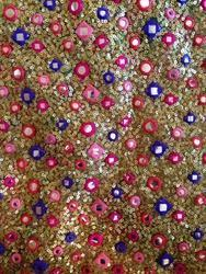 Sequin Thread Embroidered Fabrics
