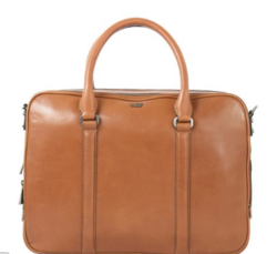 Wyatt Double Zip Tan Briefcase