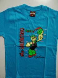 Cotton Casual Wear Kids T-shirt, Size: 5-7 Years
